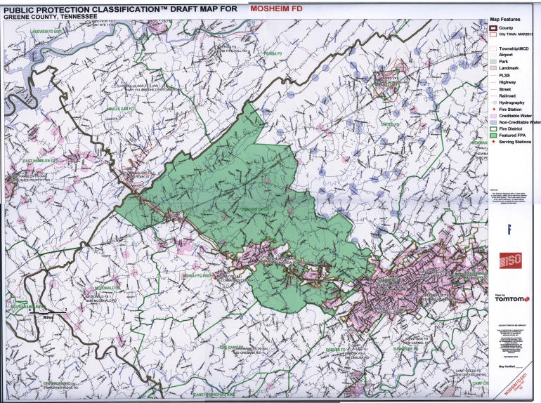 Our Coverage area is shaded in the light green color . . . Click in the image to open the full sized version of this image in a new browser window